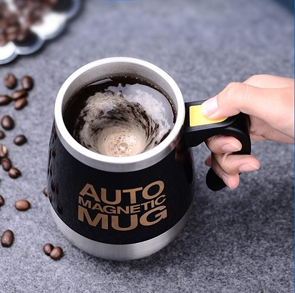全自動攪拌杯磁力杯子家用旋轉磁化杯自轉咖啡杯電動便攜懶人水杯 艾莎