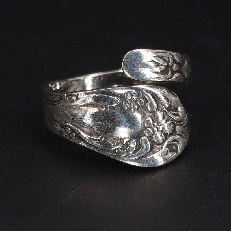 Vintage純銀湯匙柄改造戒指