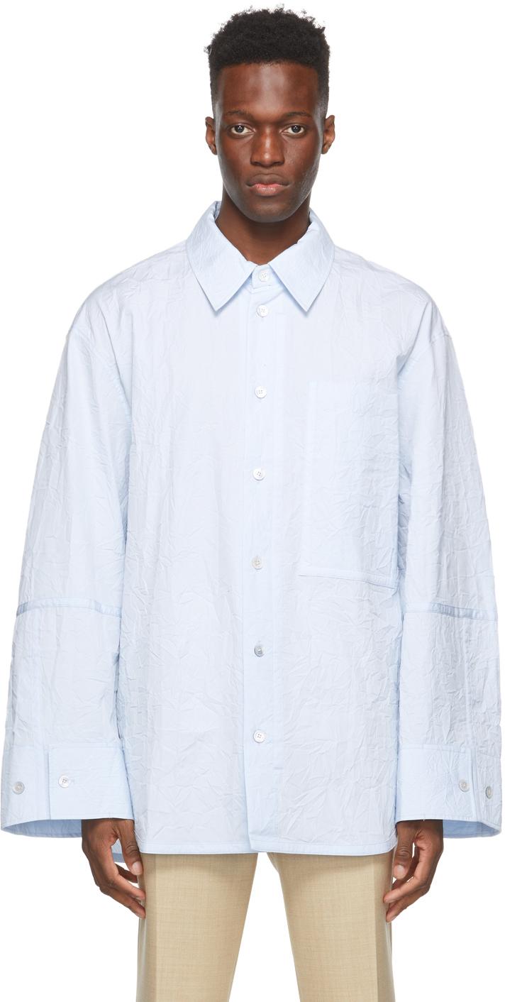 Wooyoungmi 蓝色皱褶衬衫