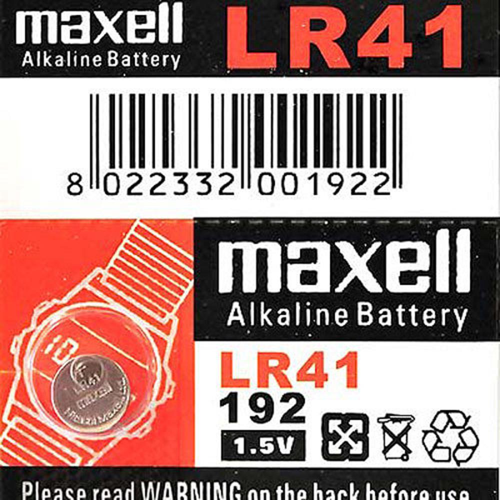 【Maxell】鈕扣型電池LR41 (5顆裝)