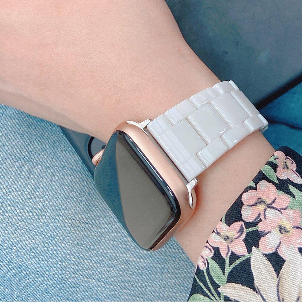 Apple Watch 質感陶瓷替換手錶錶帶 白色