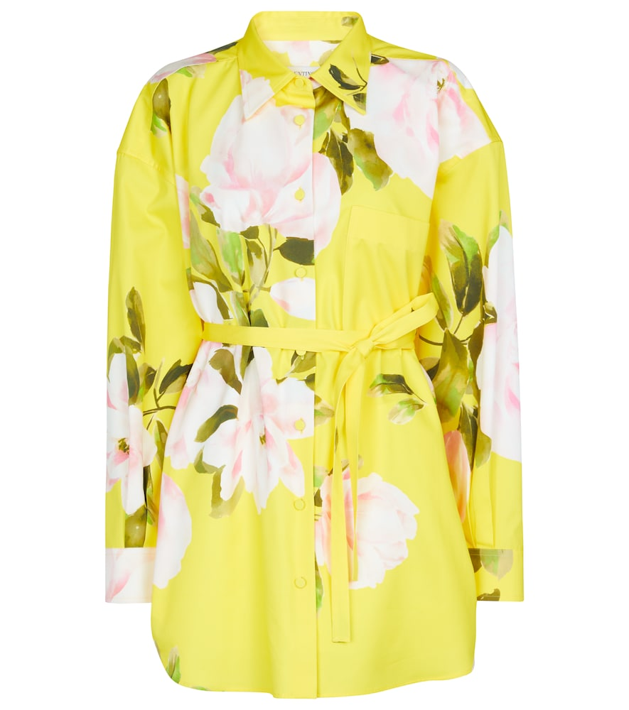 Valentino floral cotton and silk shirt jacket
