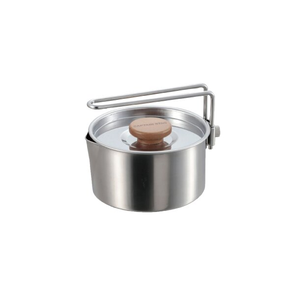 【日本鹿牌】不鏽鋼燒水壺730ml UH-4206 單手鍋 燒壺 燒水鍋 居家 野炊 露營 悠遊戶外