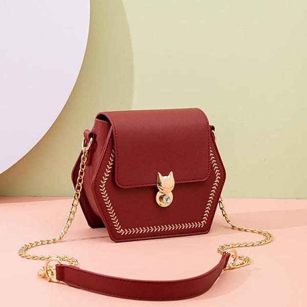 夏季包包女2021新款潮時尚網紅小眾設計高級感流行鏈條單肩斜挎包 茱莉亞