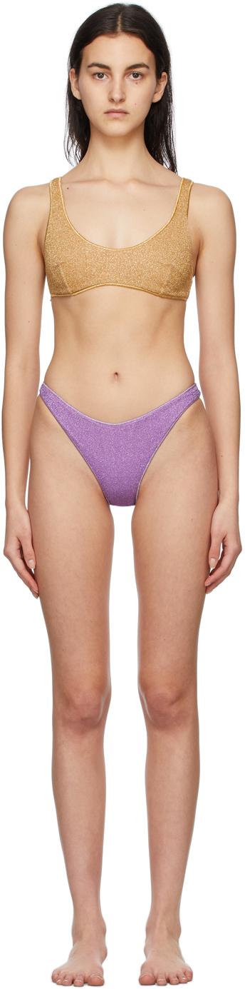 Oséree 金色 & 紫色 Lumière Sporty 比基尼