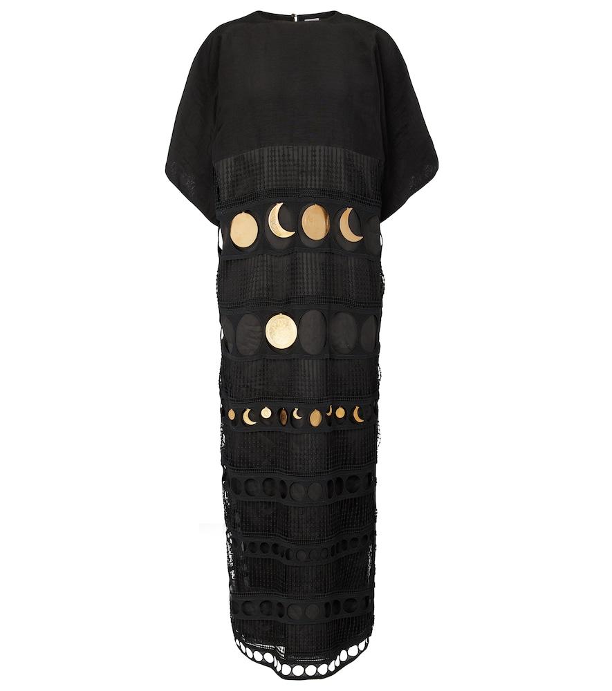 Paula's Ibiza embellished silk dress