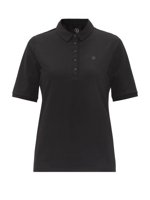 Bogner - Tammy Cotton-blend Piqué Golf Polo Shirt - Womens - Black