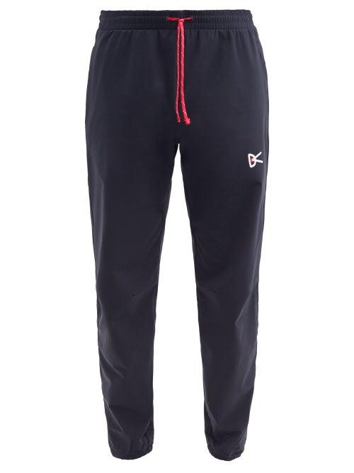 District Vision - Zanzie Logo-print Drawstring-waist Track Pants - Mens - Black