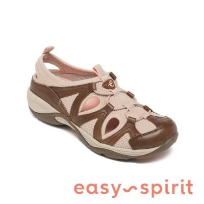 Easy Spirit-seEARTHEN10 簍空撞色休閒涼鞋-咖啡色
