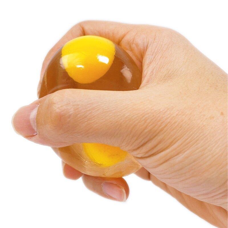 雙蛋黃 蛋黃哥 捏捏蛋 荷包蛋 透明/一個入(促20) 假蛋 出氣蛋 療癒捏捏小物 舒壓解壓捏捏樂 減壓玩具 發洩玩具 擠壓球 捏捏樂-YF1241