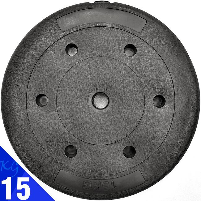 pvc包膠15kg水泥槓片(15公斤槓鈴片啞鈴片/重力重訓配件用品/舉重量訓練)d192-b2150