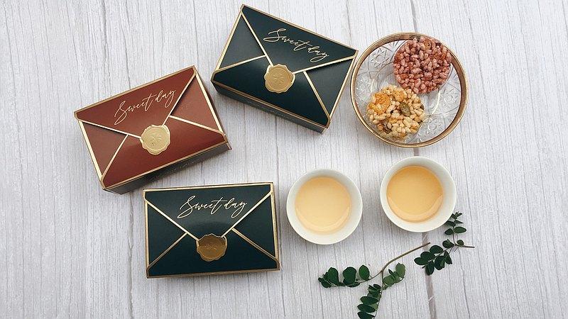 婚禮小物 醬香米餅小禮盒 - 混合口味  桌上禮 遊戲禮 二進禮