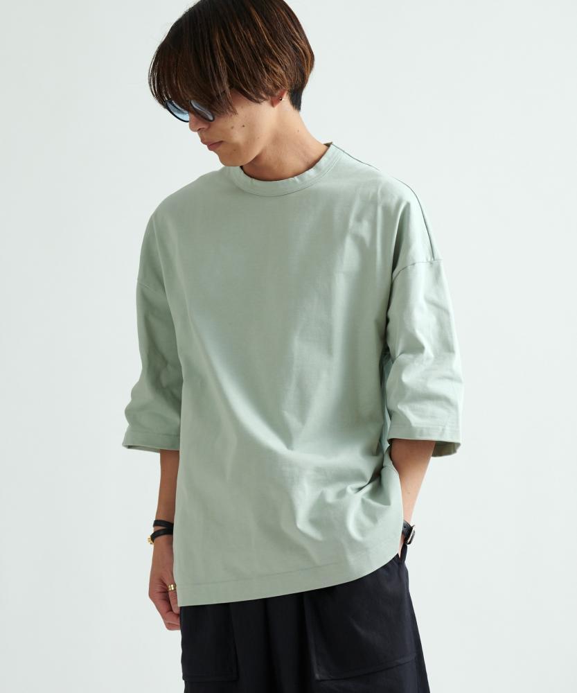 寬版七分袖T恤
