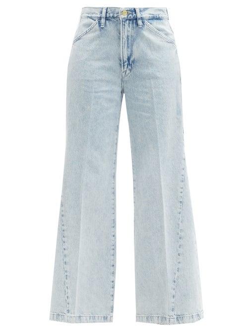 Frame - Le Baggy Wide-leg Jeans - Womens - Light Denim