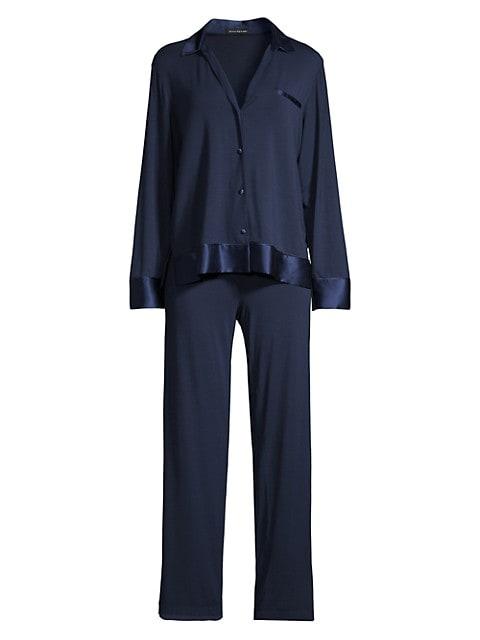 Notch 2-Piece Silk-Blend Pajama Set