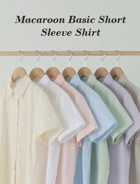 韓國空運 - Macaron Basic Short Sleeve Shirt 襯衫