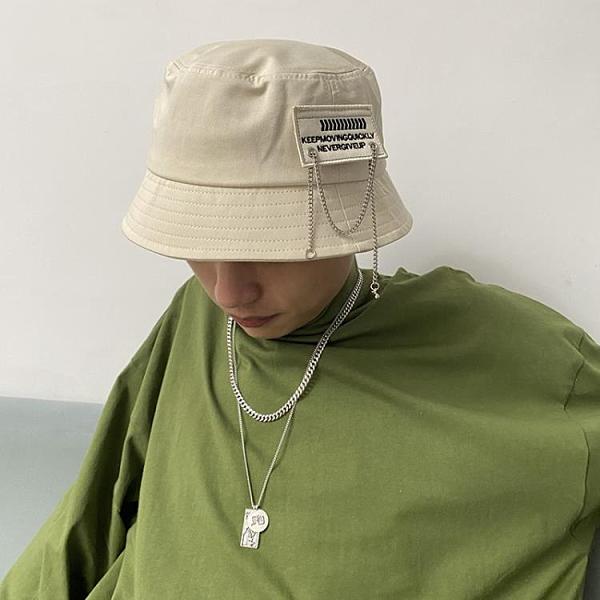 漁夫帽 漁夫帽ins潮牌大碼鍊條夏季水桶帽男生遮陽帽子自閉嘻哈大頭圍帽 寶貝