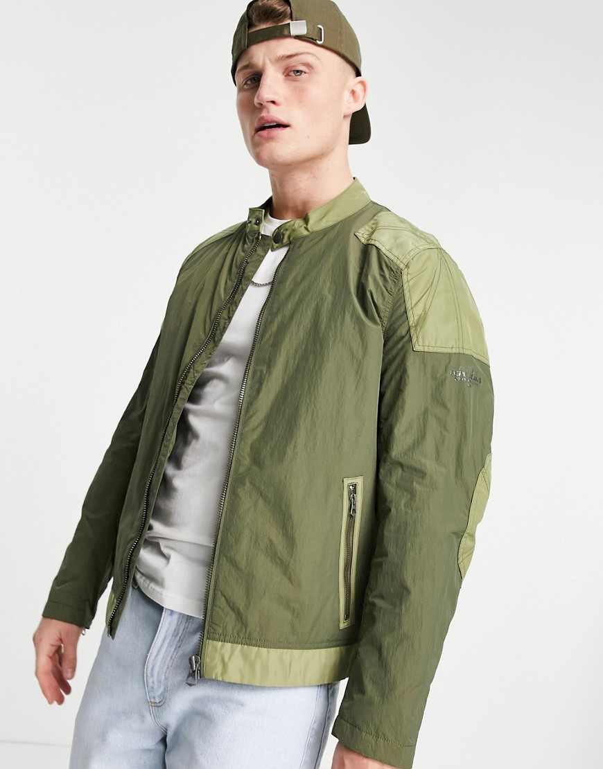 Pepe Jeans eagle lightweight bomber jacket-Green