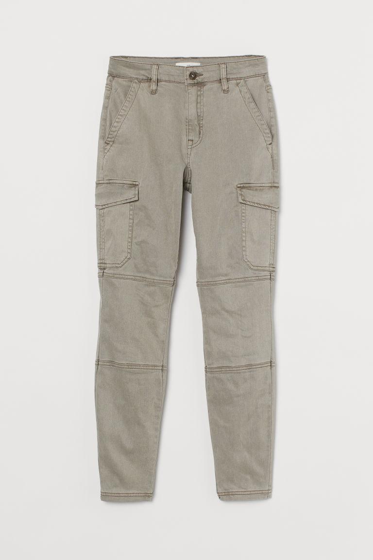 H & M - 萊賽爾混紡工作褲 - 褐色