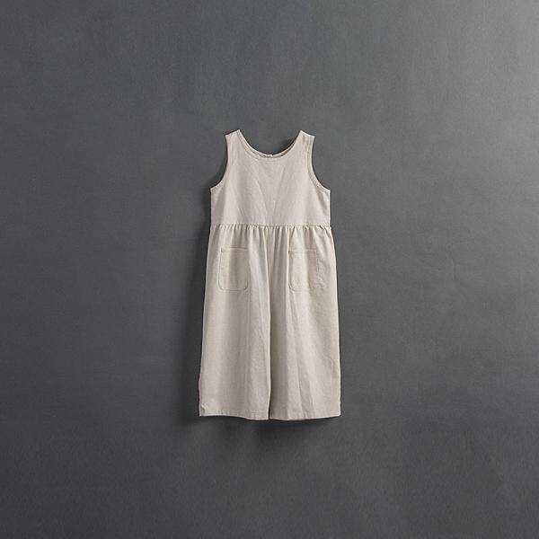 Queen Shop【04050713】童裝 親子系列 無袖棉麻正反連身褲 兩色售S~L*現+預*