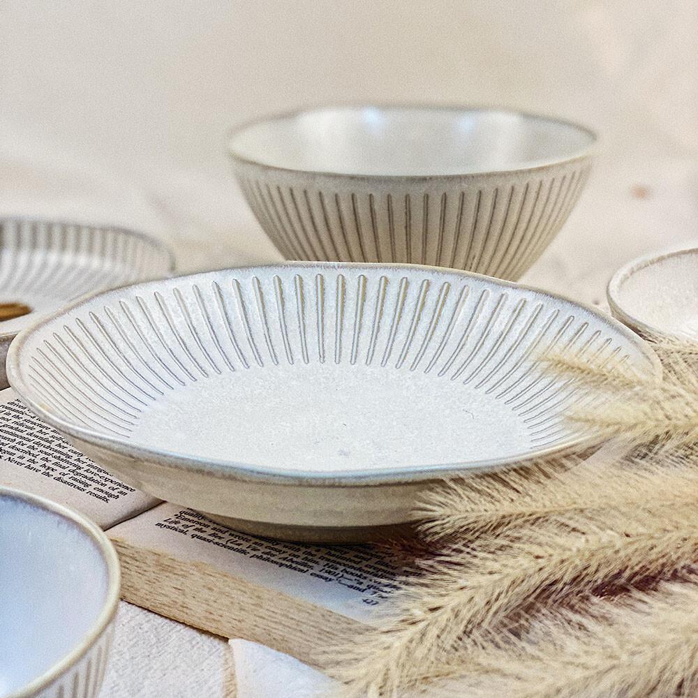 日式復刻十草 日式碗盤 8吋深盤 飯盤 湯盤 深盤 大盤