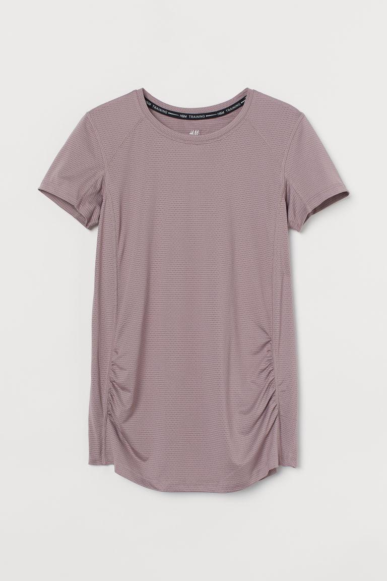 H & M - MAMA 運動上衣 - 紫色
