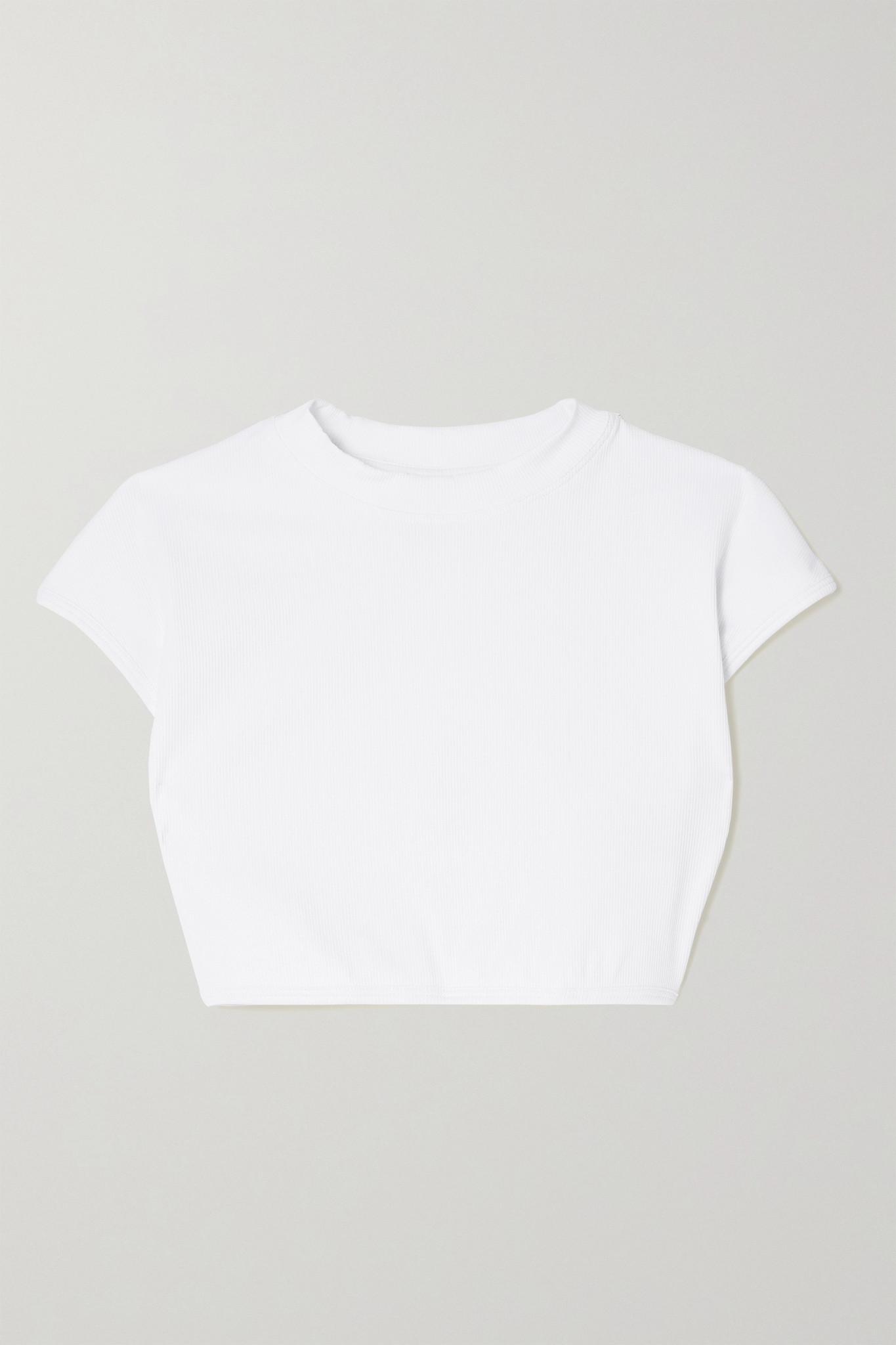 THE ATTICO - 罗纹比基尼上装 - 白色 - medium