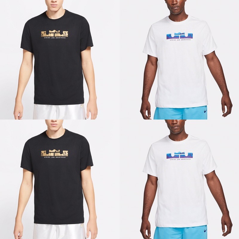 [Nike] LEBORN 男款運動休閒上衣 短袖 新款 黑 DB6179011 白 DB6179100曼哈頓運動休閒館