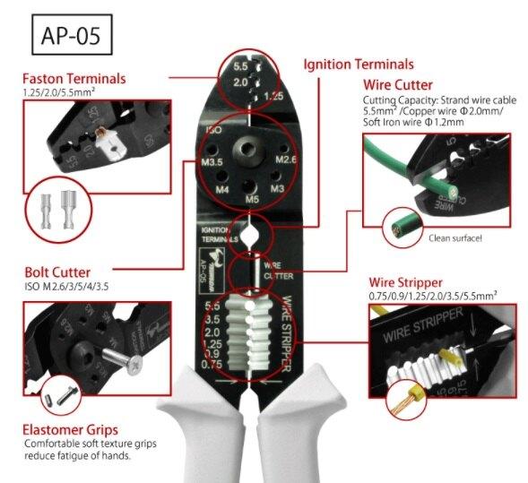 南慶五金 角田 TTC  電工萬能壓著鉗 AP-05