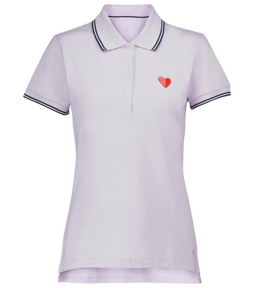 Cotton-blend piqué polo shirt