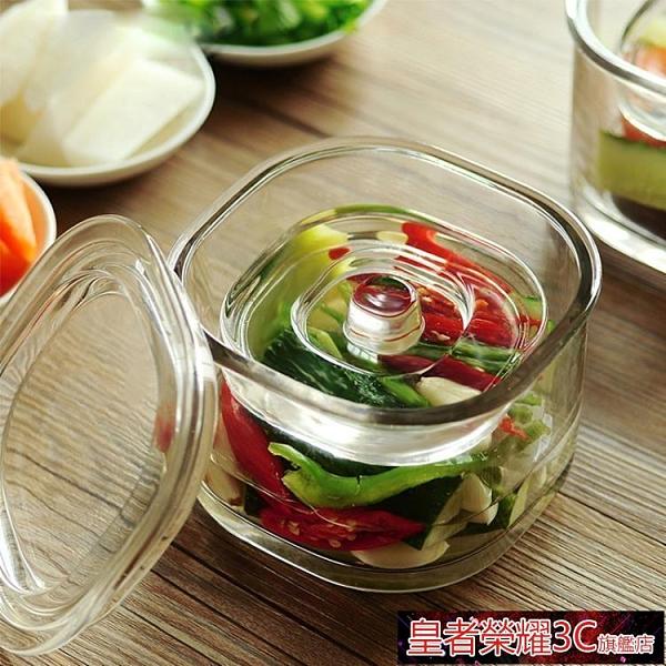 泡菜罈 日本淺漬罐泡菜壇子加厚家用透明玻璃瓶子密封罐帶蓋一夜漬腌菜缸YTL