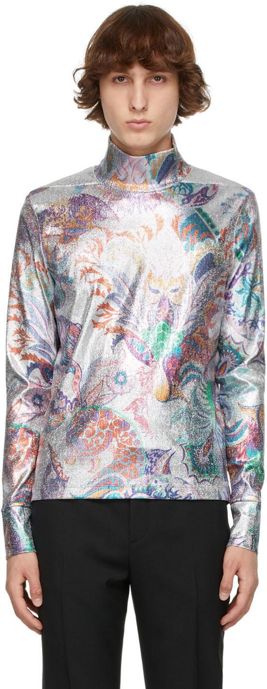 Paco Rabanne 银色 Psyche 金银丝高领衫