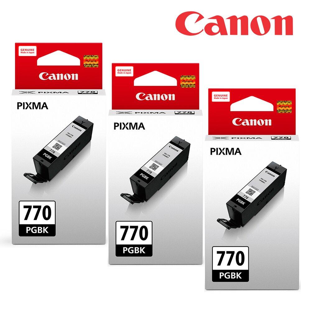 ★快速到貨◆Canon PGI-770BK 原廠黑色墨水組合(3黑)