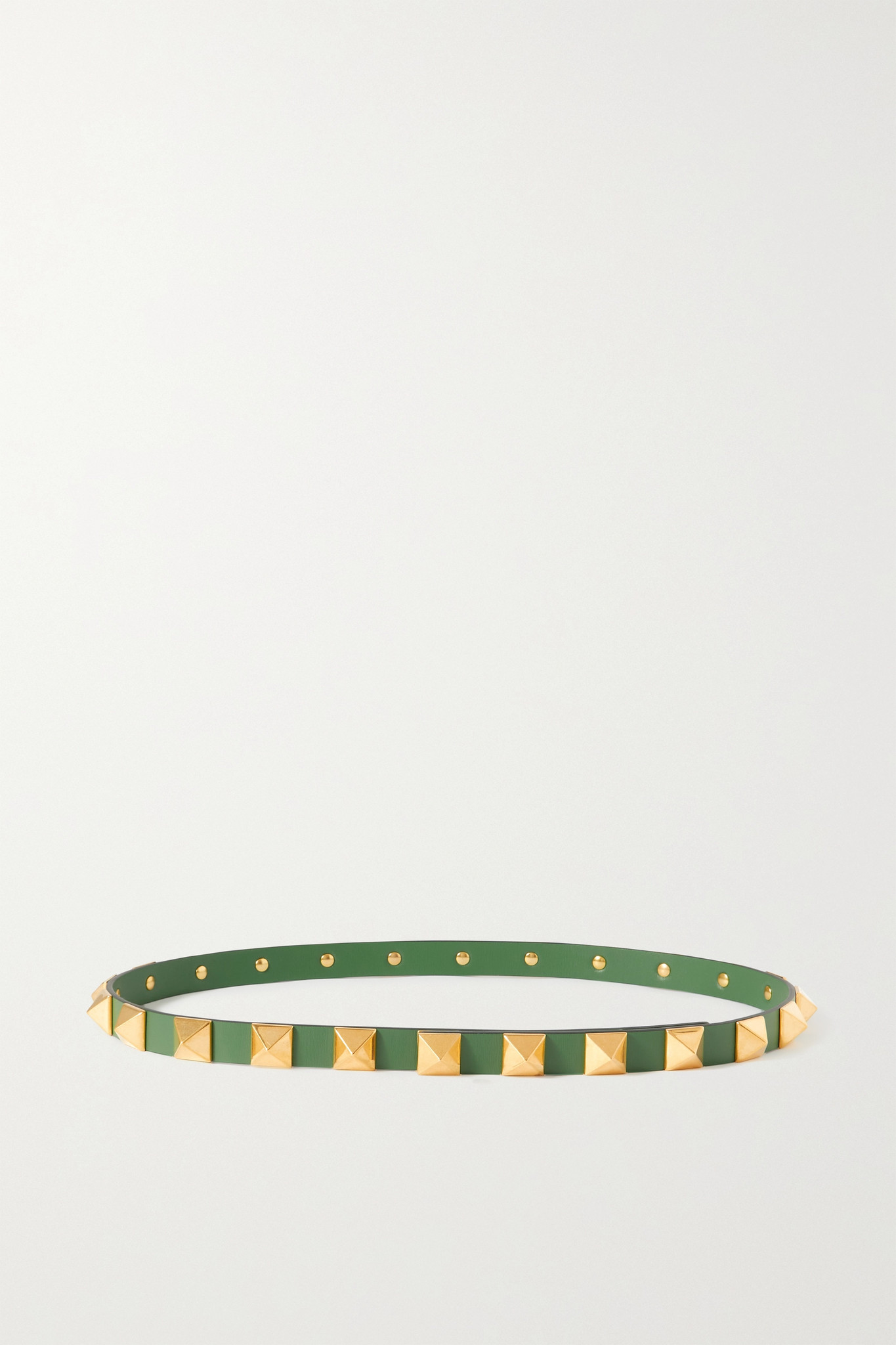 VALENTINO - Valentino Garavani Rockstud Leather Waist Belt - Green - 70