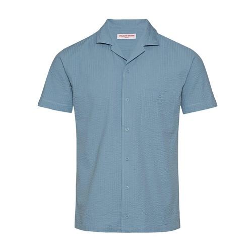 Hibbert Tonal Seersucker Capri Collar Seersucker Shirt