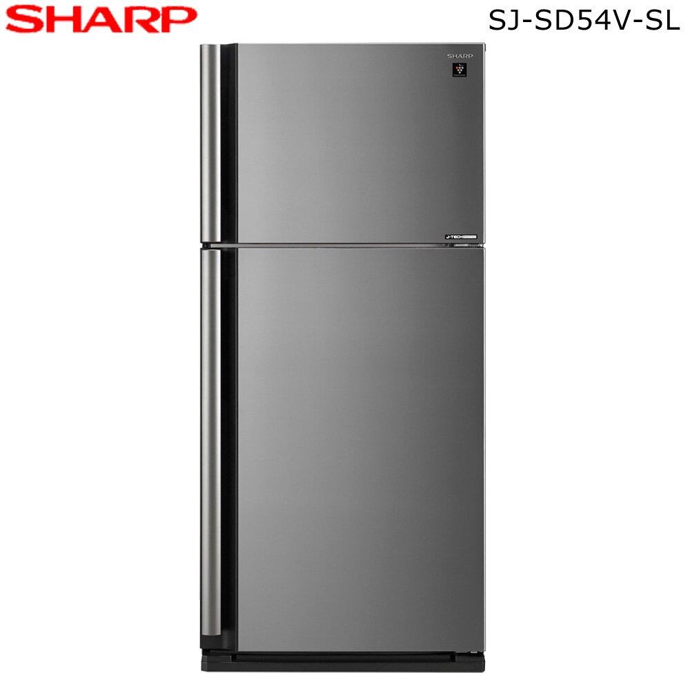 SHARP 夏普 SJ-SD54V-SL 冰箱 541L 變頻雙門電冰箱 炫銀鋼板 自動除菌離子+奈米銀脫臭觸媒