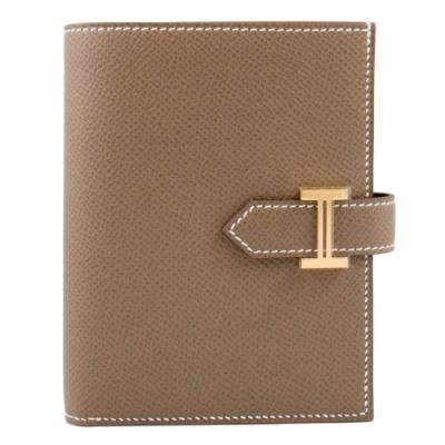 Hermes Bearn 短夾 (大象灰 Etoupe x 金釦) Bearn Compact H扣/H釦 Epsom