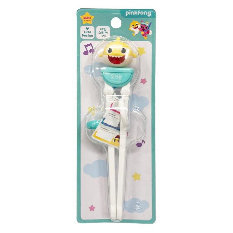 pink fong 鯊魚寶寶 Baby Shark 3D學習筷 3y+(右手專用)★愛兒麗婦幼用品★