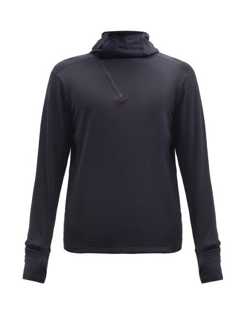 District Vision - Johannes Jersey Mid-layer Hooded Sweatshirt - Mens - Black