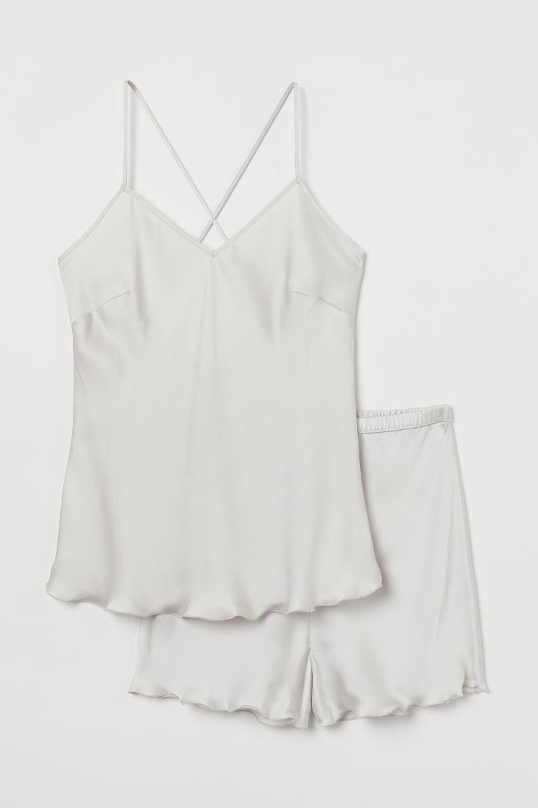H & M - 綢緞睡衣套裝 - 褐色