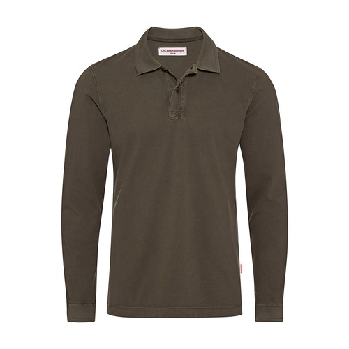 Jarrett Ls Garment Dye Long Sleeve Polo Shirt