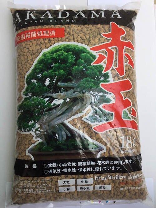 日本 ADAKAMA 超硬質赤玉土 高溫殺菌 透氣 排水 保水 大包裝18L-中粒