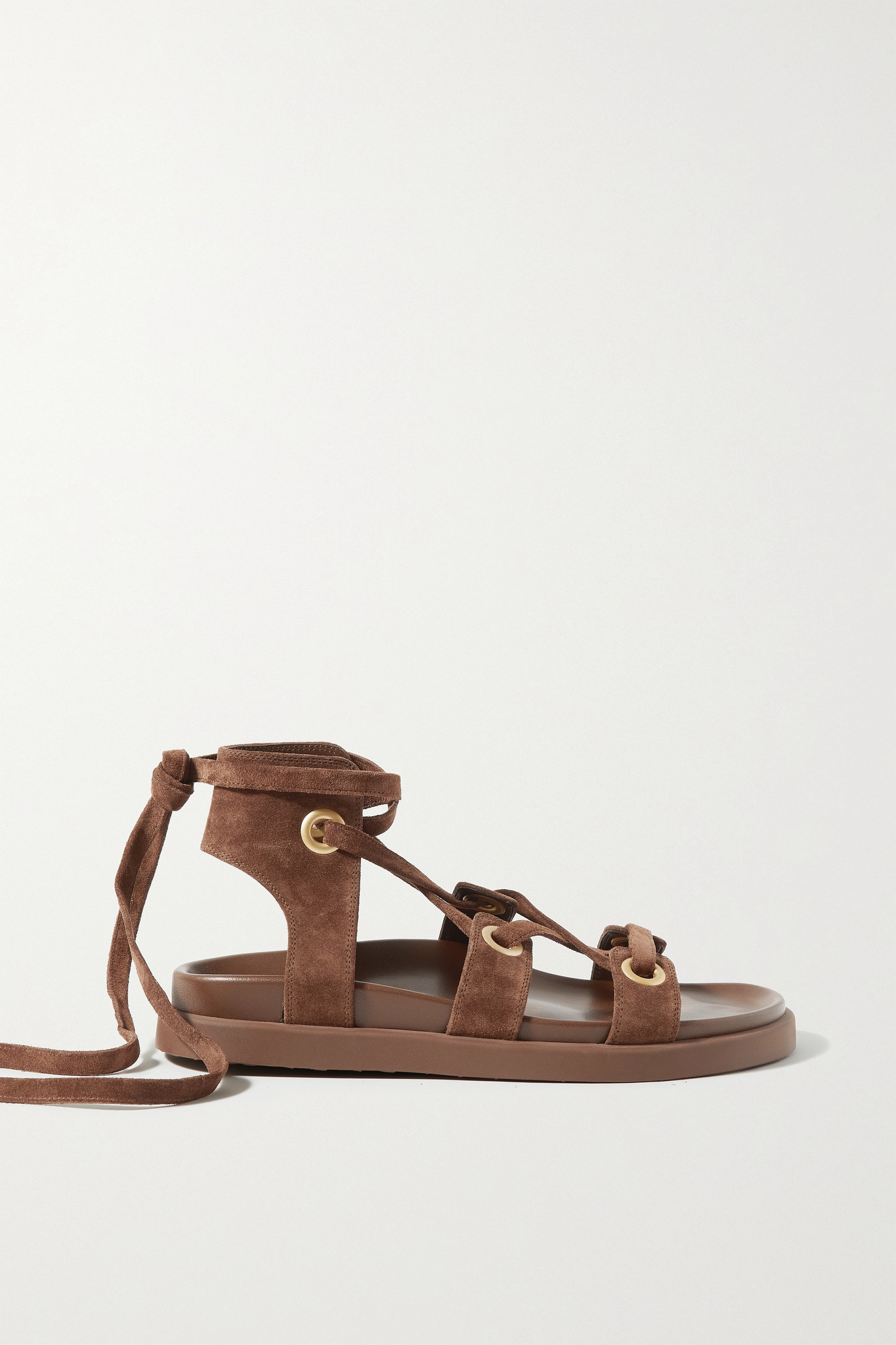 GIANVITO ROSSI - Ibiza 绒面革凉鞋 - 棕色 - IT38.5