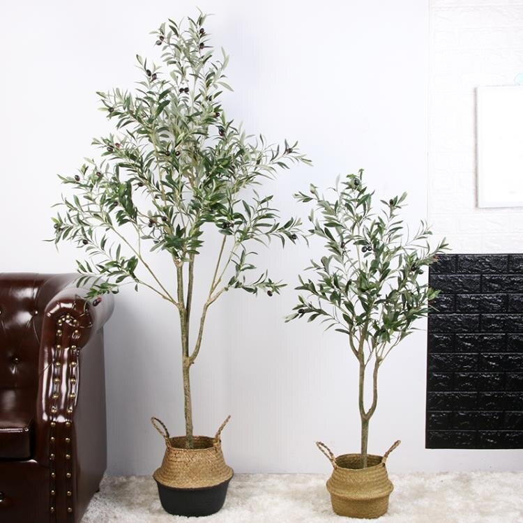 北歐ins風仿真橄欖樹盆栽網紅大型綠植物室內假裝飾客廳落地擺件NMS