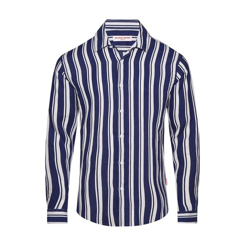 Giles Island Stripe Cls 1 Classic Collar Tailored Fit Stripe Shirt