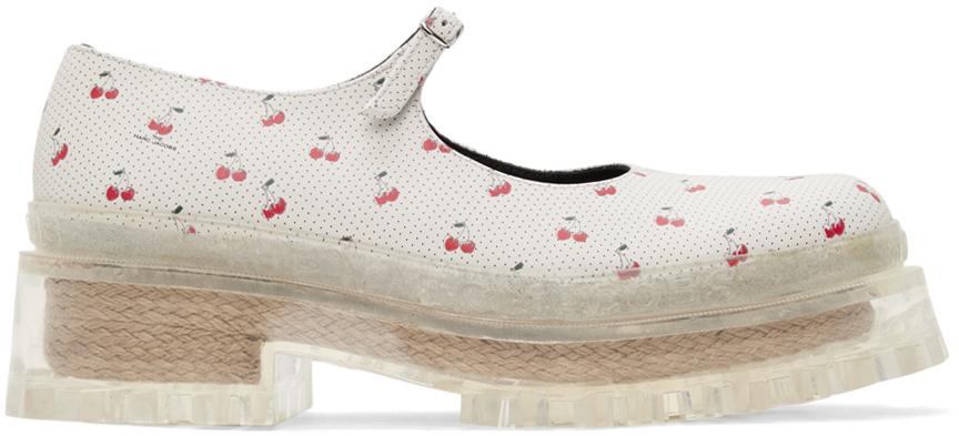 Marc Jacobs 灰白色针扣玛丽珍鞋