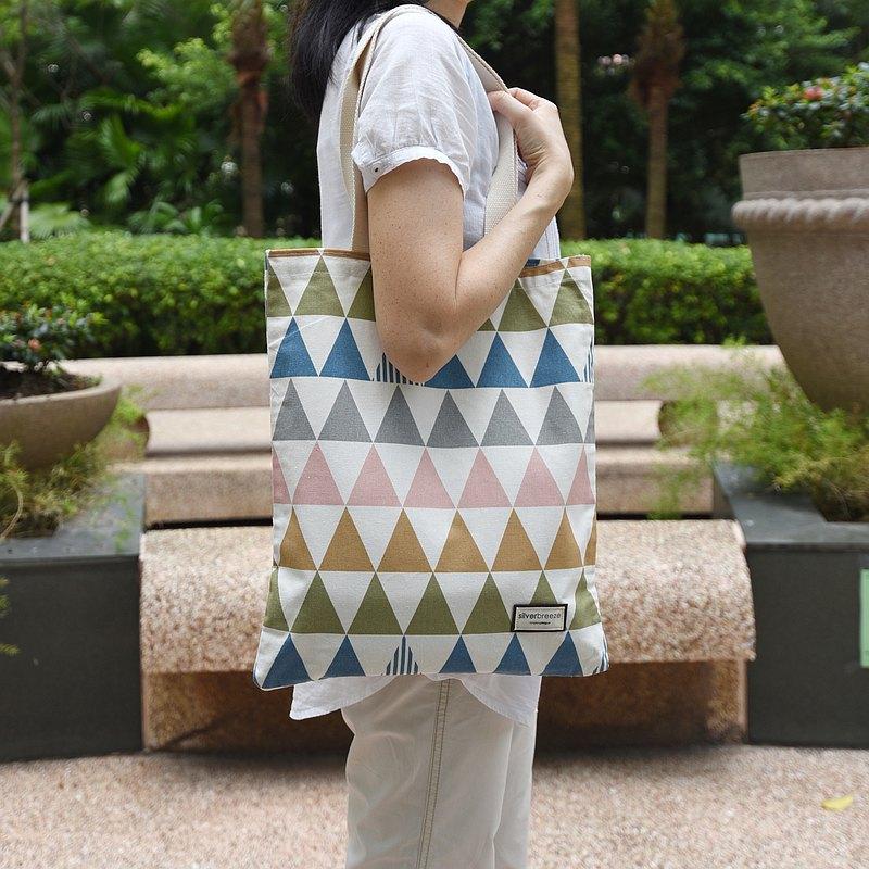 二合一手提肩背兩用袋, 肩背包 - 三角形圖案 (SB08)