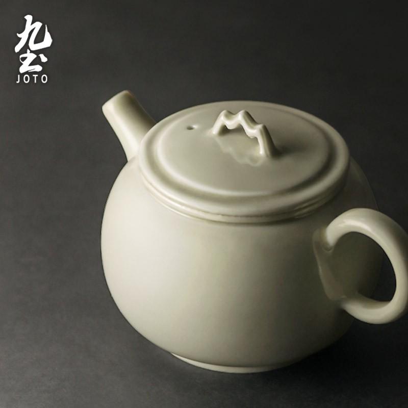 【九土JOTO】日式禪意草木灰茶具套裝組日式手工茶壺泡茶壺功夫茶具復古單壺小茶杯一壺四杯套裝