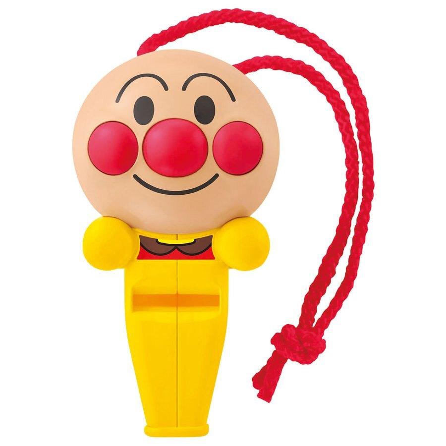 造型樂器 哨子玩具 麵包超人 立體頭型黃 兒童 寶寶 哨子 音樂玩具 求救哨 真愛日本