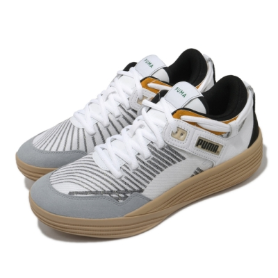 Puma 籃球鞋 Clyde All-Pro Kuzma 男鞋 專業運動 低筒 高回彈 緩震 白 黑 19483501